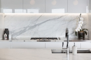 Marble is the hero in this kitchen