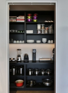 Black Shelf Butlers Pantry