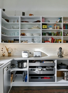 Renovated villa kitchen with scullery