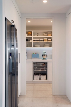 Entertainers kitchen with scullery