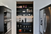 Black walk-in-pantry