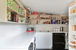 Scullery with angled ceiling