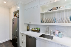 Dishwasher and sink in scullery