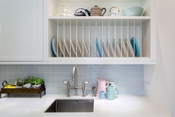 Plate rack above scullery sink