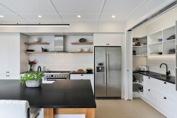 Scullery blends into the kitchen