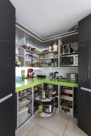 L-shaped corner pantry