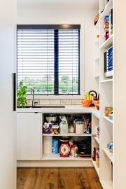 Walk-in pantry window