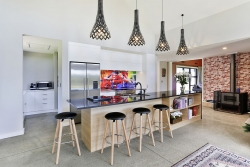 Contemporary kitchen with scullery