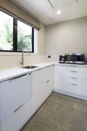 Scullery with double dishdrawers