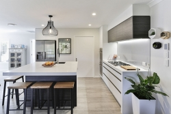 Modern kitchen with scullery - door closed