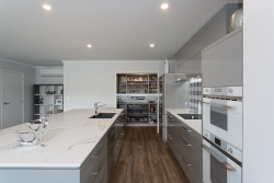 Walk in pantry at end of galley kitchen
