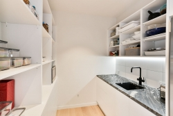 Scullery with granite bench