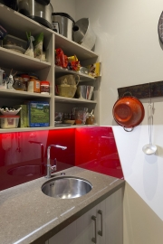 Red splashback