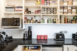 Coffee station in butlers pantry