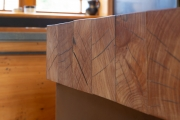 100mm solid macrocarpa bench