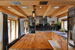 Solid timber paired with concrete look