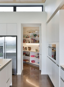 White galley kitchen - scullery