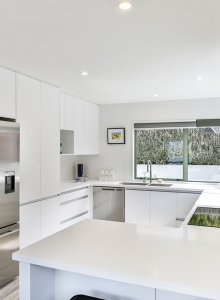 Compact white modern kitchen