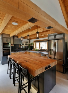 Solid timber industrial style kitchen