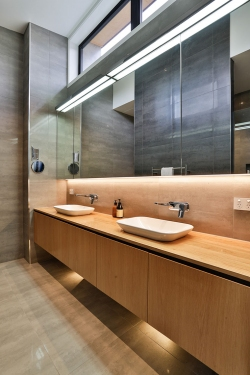 Timber bathroom cabinets