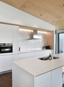 Corian benchtop in white with a matt finish