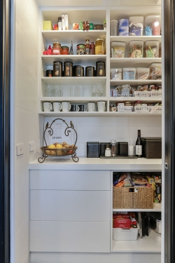 Open shelving in scullery