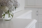 Bevelled acrylic benchtop