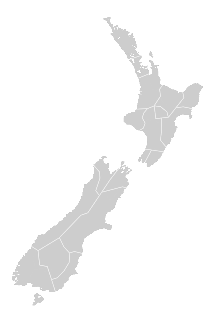 Region map of New Zealand