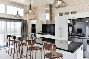 open plan high stud kitchen
