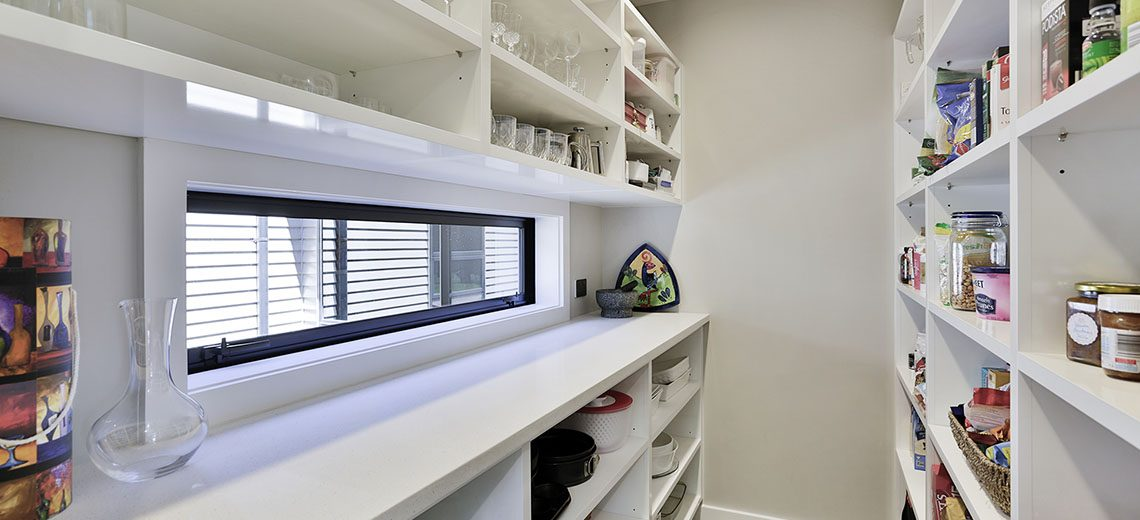 white scullery with window