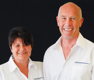 Carol Harker & Tony Wilson of Mastercraft Kitchens Whitianga