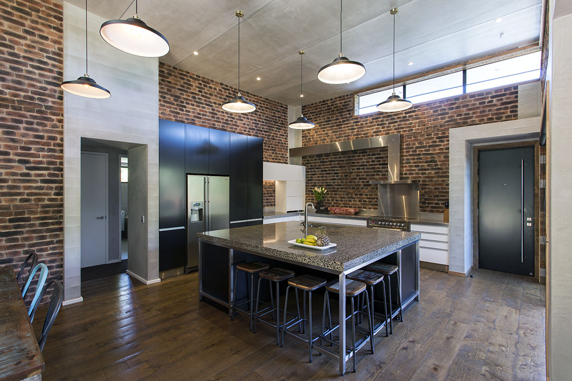 New york loft style kitchen mastercraft kitchens for New york style kitchen design