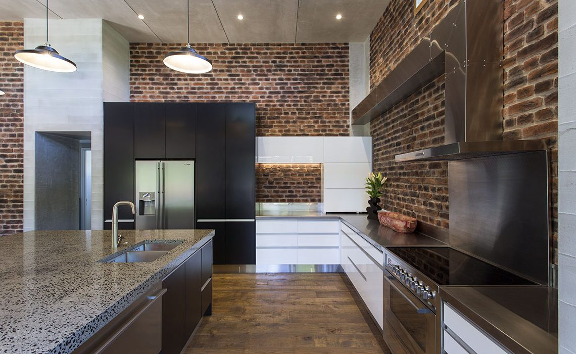 Industrial loft-style kitchen