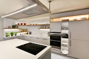 Sleek appliances in modern kitchen
