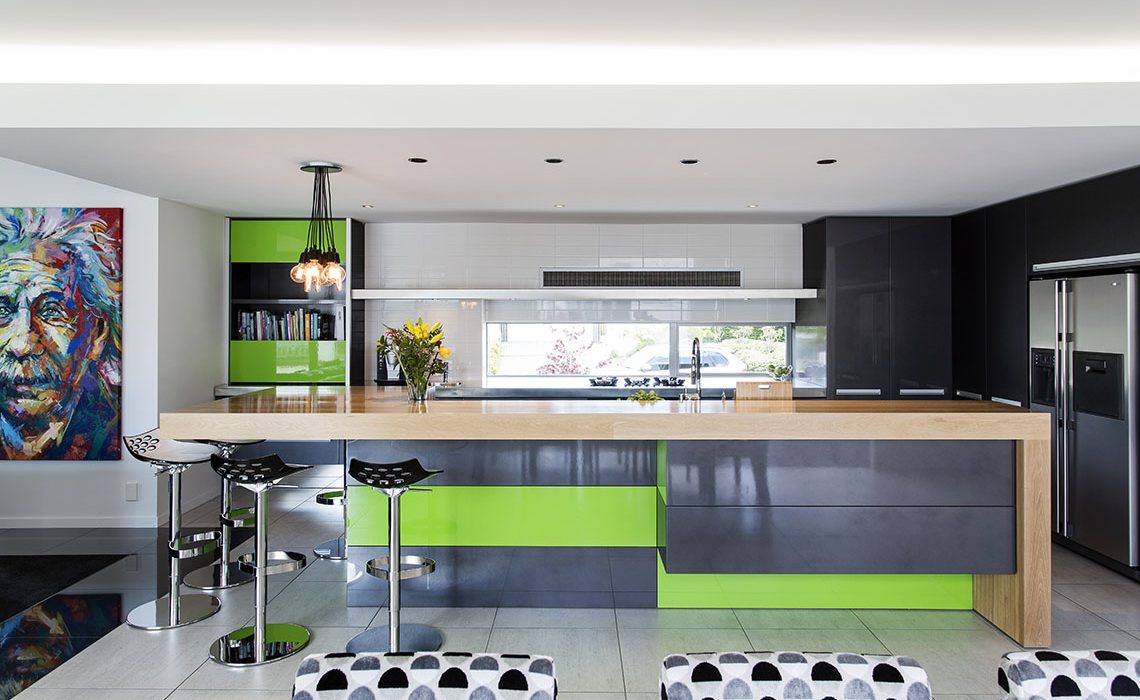 symphony of colour and texture in kitchen