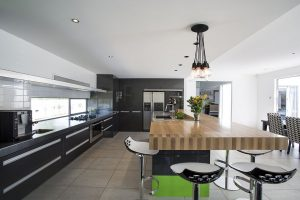stainless steel granite and timber kitchen