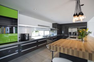stainless steel granite and timber