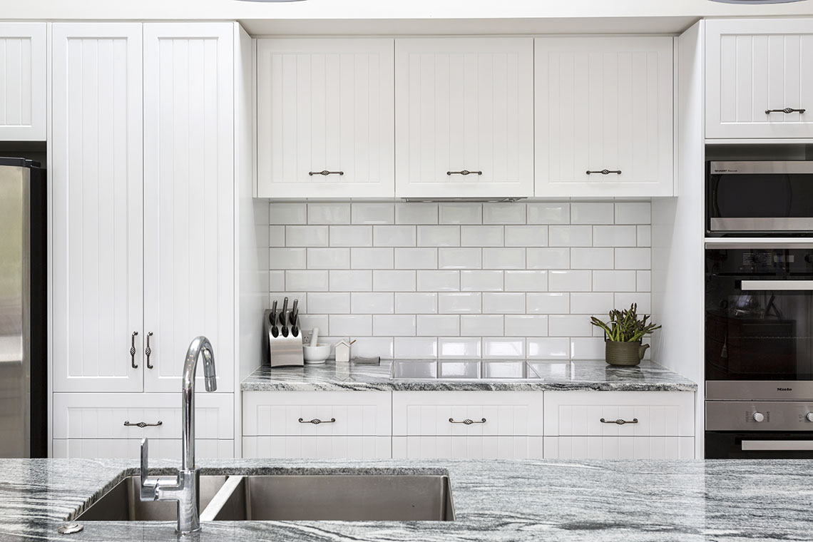 White Butchers Tile Splashback