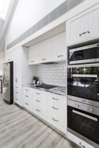black white country kitchen