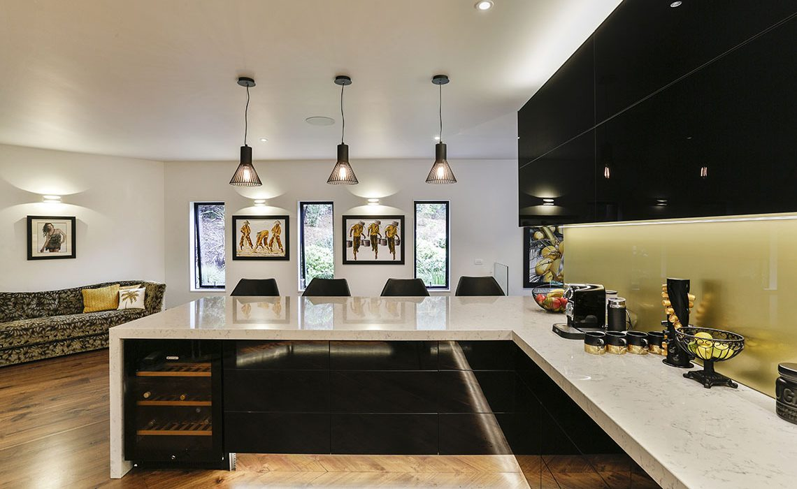 Black and gold kitchen 7