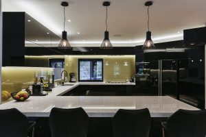 Black and gold kitchen 2