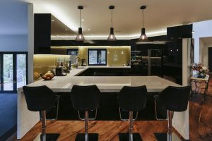 Black and gold kitchen 3