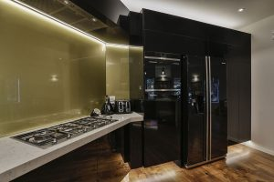 Black and gold kitchen 5