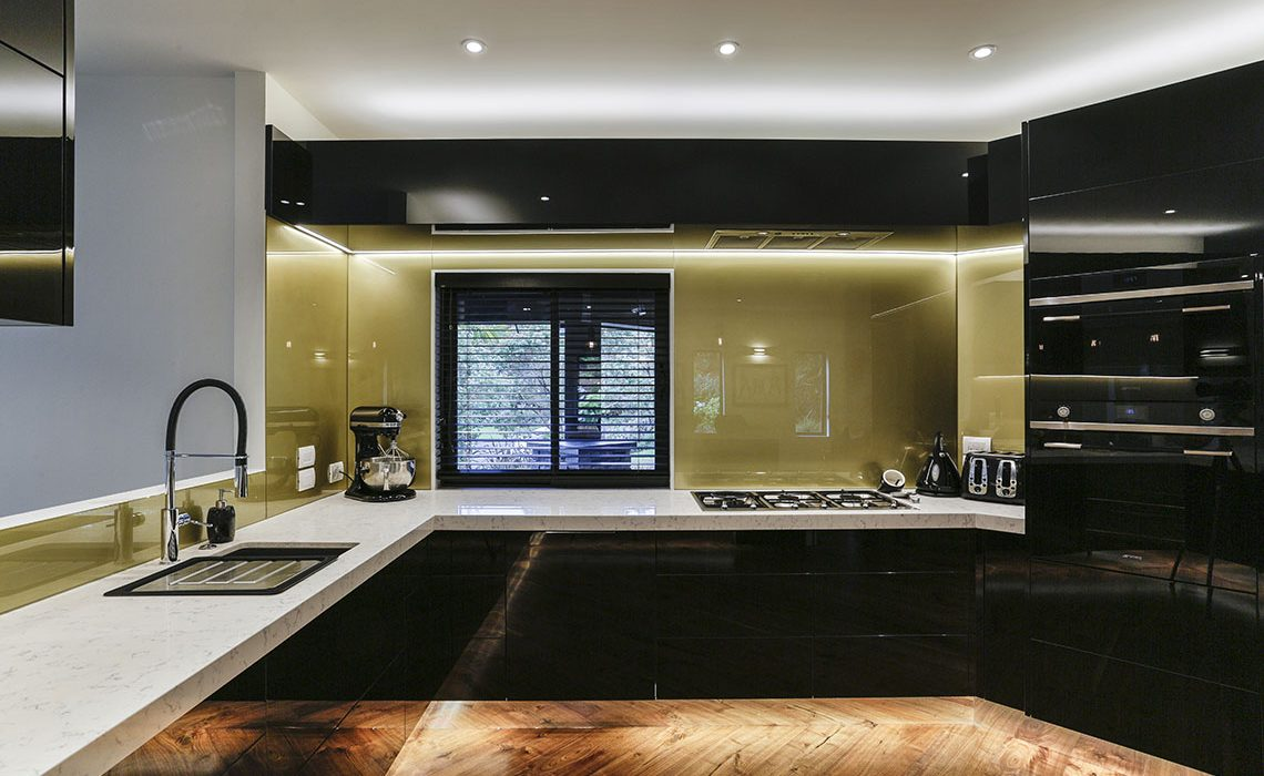Black and gold kitchen 6