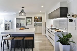 White kitchen - scullery revealed