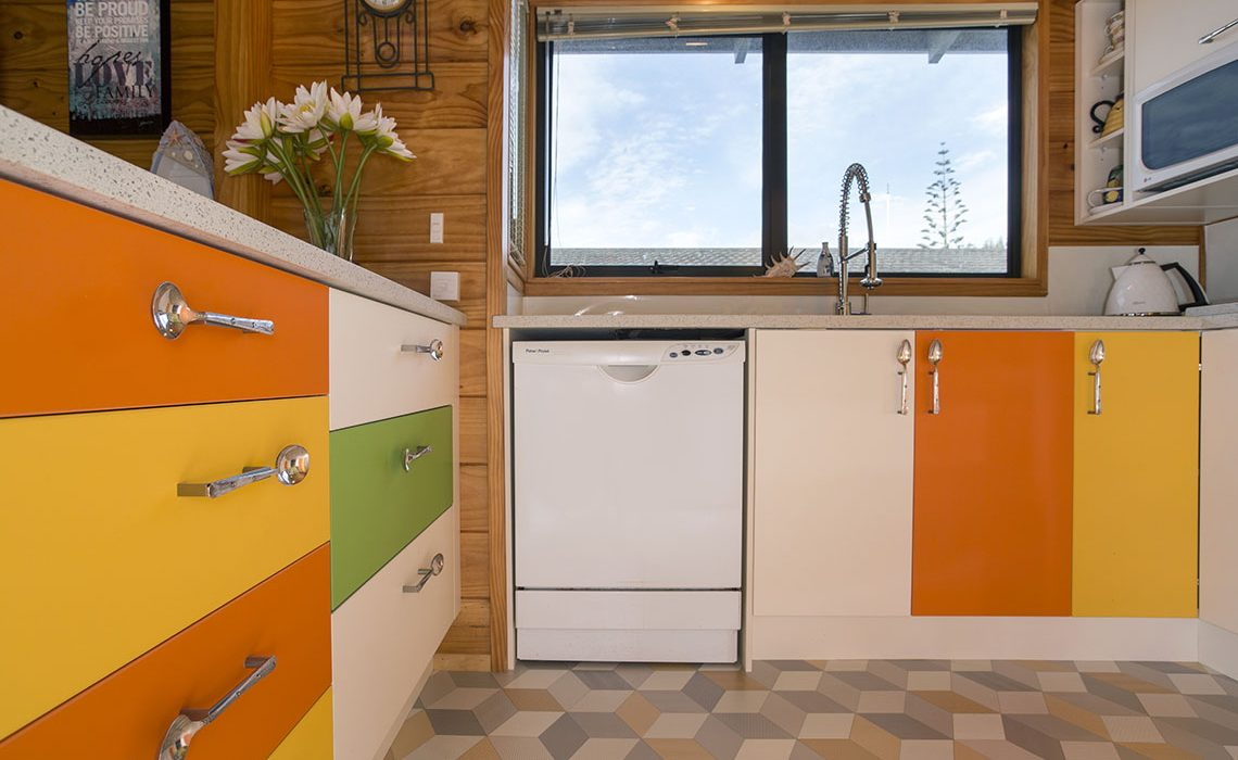colourful kitchen renovation