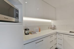white kitchen minimalist scullery