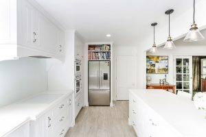 white country kitchen stainless steel appliances