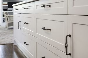 white country kitchen black drawer handles