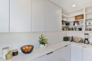 white scullery cupboards minimalist